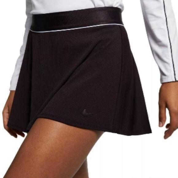 Nike Women's Court Dry Flounce Skirt Burgundy Ash